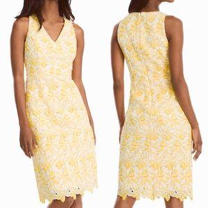 🆕 WHBM Yellow Lace Sheath Dress